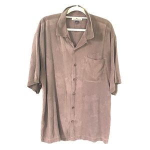 Tommy Bahama* Brown 100% silk short sleeve Shirt